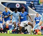 25.07.2020 Rangers v Coventry City: Joe Aribo and Brandon Mason