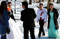 """Wedding party; Central Park; 227pm, 13Feb2006 (a day after the so-called """"blizzard of '06"""")"""