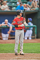 Jay Schuyler (36) of the Billings Mustangs bats against the Ogden Raptors at Lindquist Field on August 17, 2018 in Ogden, Utah. Billings defeated Ogden 6-3. (Stephen Smith/Four Seam Images)