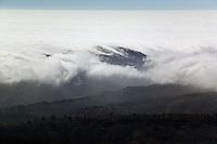 aerial photograph fog San Mateo County