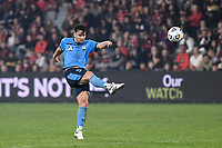 1st May 2021; Bankwest Stadium, Parramatta, New South Wales, Australia; A League Football, Western Sydney Wanderers versus Sydney FC; Alexander Baumjohann of Sydney takes a shot on goal