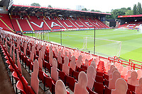 General view of The Valley showing the back of the cardboard cutouts in the foreground during Charlton Athletic vs Reading, Sky Bet EFL Championship Football at The Valley on 11th July 2020