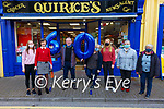 Staff from Quirkes Newsagents in Cahersiveen surprised their boss with 60th birthday wishes on Tuesday morning, pictured here l-r; Catherine O'Connell, Trish Walsh, Colman Quirke, Gerardine Keating, Sadbh O'Shea, Brenda Murphy & Ros Prendergast.