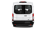 Straight rear view of 2021 Ford Transit 350-XLT 5 Door Passenger Van Rear View  stock images
