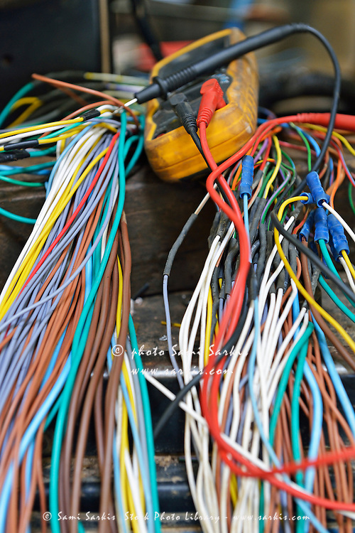 Colorful Electrical wires Electric Meter