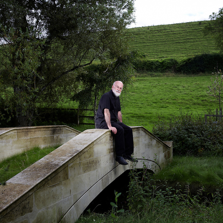 """©  John Angerson .Sir Terence David John """"Terry"""" Pratchett, OBE (born 28 April 1948) is an English novelist, known for his frequently comical work in the fantasy genre. At his home near Salisbury."""