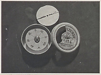 BNPS.co.uk (01202 558833)<br /> Pic: IronCrossMagazine/BNPS<br /> <br /> Pictured: A handcrafted compass.<br /> <br /> The comical escape attempts made by British officers from a German prisoner of war camp called Castle Tittmoning have been revealed 80 years later.<br /> <br /> The desperate efforts to break out of the little known but rude sounding camp included three men who hid inside a cramped fireplace for eight days before being found by guards covered in soot.<br /> <br /> Other officers hid under piles of rubbish on a horse-drawn cart and allowed themselves to be driven out of the fortress before they were discovered.<br /> <br /> The men expertly made German uniforms out of blankets and brazenly walked out of the camp disguised as guards before being rumbled.