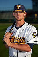 Burlington Bees catcher Taylor Ward (24) poses for a photo before a game against the Clinton LumberKings on August 20, 2015 at Community Field in Burlington, Iowa.  Burlington defeated Clinton 3-2.  (Mike Janes/Four Seam Images)