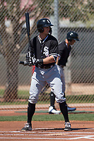 Chicago White Sox center fielder Ryan Cordell (49) during a Minor League Spring Training game against the Cincinnati Reds at the Cincinnati Reds Training Complex on March 28, 2018 in Goodyear, Arizona. (Zachary Lucy/Four Seam Images)