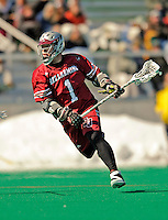 23 March 2008: Bellarmine University Knights' Adam Gardner, a Senior from Toronto, Ontario, in action against the University of Vermont Catamounts at Moulton Winder Field, in Burlington, Vermont. The Catamounts defeated the visiting Knights 9-7 at the Vermont home opener...Mandatory Photo Credit: Ed Wolfstein Photo