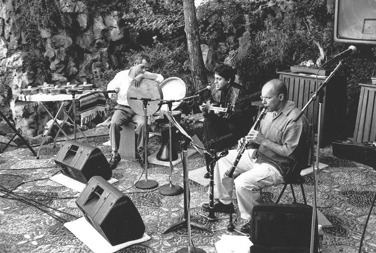 Sal Ferreras, Amir Koushkani, François Houle at Dr. Sun Yat-Sen Classical Chinese Garden. This trio now recording and touring under the name SAFA.