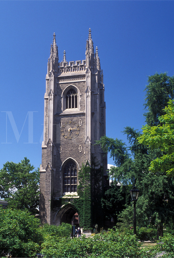 university, Toronto, Canada, Ontario, Bell Tower on the University of Toronto St. George Campus in downtown Toronto.