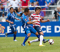 Joe Corona, Richard Menjivar Peraza.  The United States defeated El Salvador, 5-1, during the quarterfinals of the CONCACAF Gold Cup at M&T Bank Stadium in Baltimore, MD.
