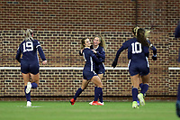 CHAPEL HILL, NC - NOVEMBER 16: Emily Fox #11 of the University of North Carolina celebrates her goal with Lois Joel #27 during a game between Belmont and North Carolina at UNC Soccer and Lacrosse Stadium on November 16, 2019 in Chapel Hill, North Carolina.
