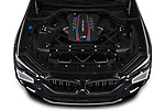 Car Stock 2020 BMW X6-M Competition 5 Door SUV Engine  high angle detail view