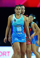 Mystics' Fa'amu Ioane and Tactix' Samon Nathan during the ANZ Premiership netball final between Northern Mystics and Mainland Tactix at Spark Arena in Auckland, New Zealand on Sunday, 8 August 2021. Photo: Dave Lintott / lintottphoto.co.nz