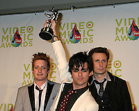 Green Day.in press room.MTV Video Music Awards.American Airlines Arena.Miami, FL.August  28, 2005.©2005 Kathy Hutchins / Hutchins Photo....