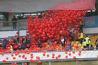 BOGOTÁ - COLOMBIA, 25-05-2018:Despedida de la Selección Colombia de fútbol  de mayores  que participará en el Mundial de Rusia 2018 de la hinchada de todo el país y de los asistentes al estadio Nemesio Camacho El Campín de Bogotá. /Farewell to the Colombian Soccer Team that will participate in the World Cup in Russia 2018 of fans from all over the country and the people who attended the Nemesio Camacho El Campin Stadium in Bogotá. Photo: VizzorImage / Felipe Caicedo / Staff.