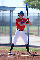 Ryan Mendez (48), from Omaha, Nebraska, while playing for the Red Sox during the Under Armour Baseball Factory Recruiting Classic at Red Mountain Baseball Complex on December 28, 2017 in Mesa, Arizona. (Zachary Lucy/Four Seam Images)