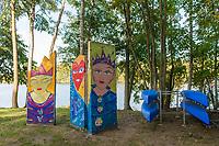 Reste der Berliner Mauer am Griebnitzsee, Babelsberg, Potsdam, Brandenburg, Deutschland