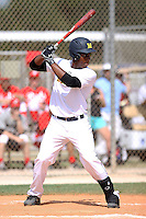 RJ Bates, #12 of Oak Hills High School, CA playing for the Midland Redskins Team during the WWBA World Championship 2013 at the Roger Dean Complex on October 26, 2013 in Jupiter, Florida. (Stacy Jo Grant/Four Seam Images)