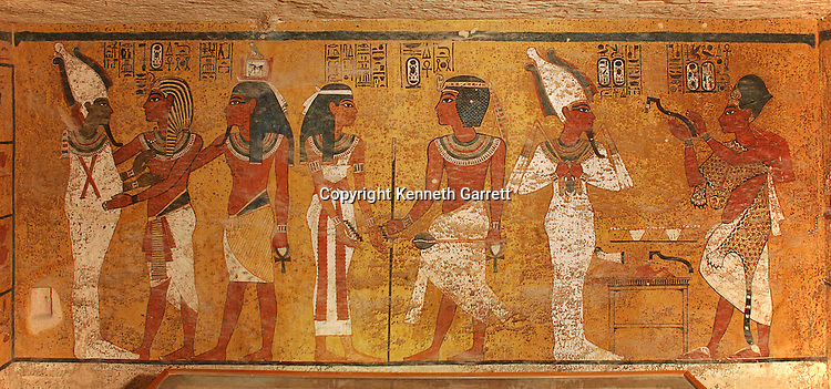 Egypt, King Tut Tomb Wall, Valley of the Kings