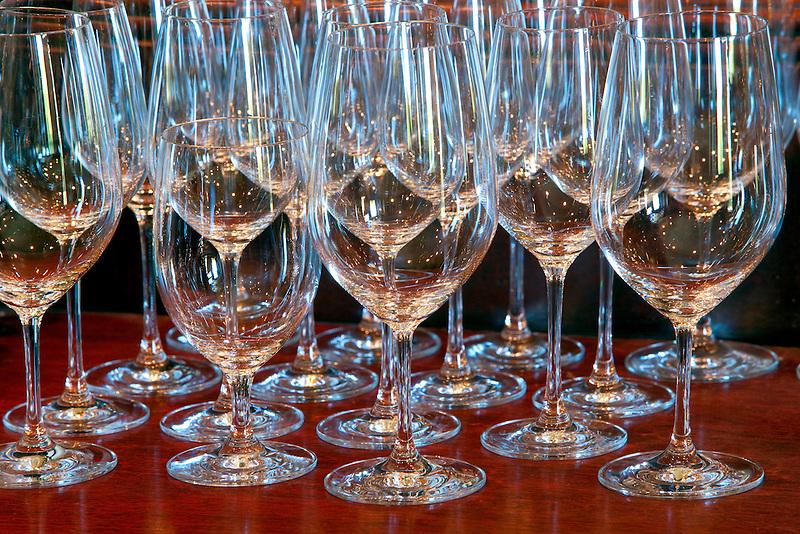 Wine glasses. Napa Valley, California.