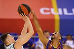 League ACB-ENDESA 2020/2021.Game 15.<br /> FC Barcelona vs Club Joventut Badalona: 88-74.<br /> Nenad Dimitrijevic vs Adam Hanga.