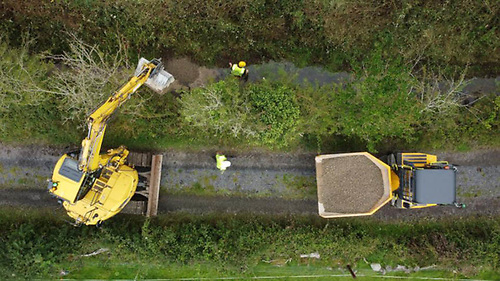 File image of instream works involving the laying of gravel