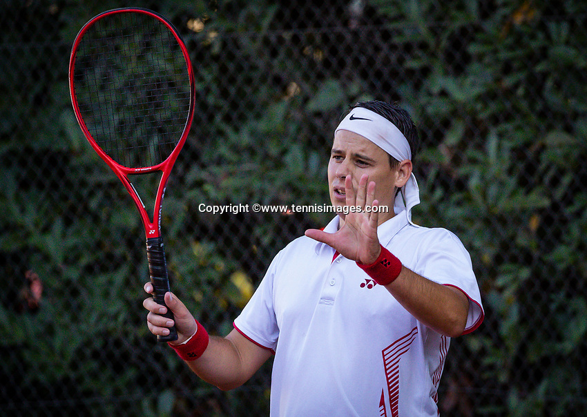 Hilversum, The Netherlands,  August 18, 2020,  Tulip Tennis Center, NKS, National Senior Championships, Men's  Single 35+,   Ruud van der Veen (NED) <br /> Photo: www.tennisimages.com/Henk Koster