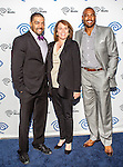 Darren Woodson, Carole Hart and David Otunga at the Time Warner Media Cabletime Upfront media event held at the Private Social Restaurant  in Dallas, Texas.