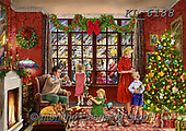 Interlitho-Franco, CHRISTMAS SANTA, SNOWMAN, WEIHNACHTSMÄNNER, SCHNEEMÄNNER, PAPÁ NOEL, MUÑECOS DE NIEVE, paintings+++++,xmas living room,KL6188,#x# ,puzzle,puzzles