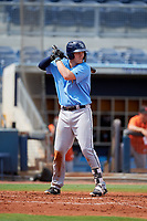 Tampa Bay Rays Jacson McGowen (49) at bat during a Florida Instructional League game against the Baltimore Orioles on October 1, 2018 at the Charlotte Sports Park in Port Charlotte, Florida.  (Mike Janes/Four Seam Images)