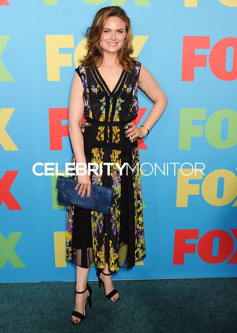 NEW YORK CITY, NY, USA - MAY 12: Emily Deschanel at the FOX 2014 Programming Presentation held at the FOX Fanfront on May 12, 2014 in New York City, New York, United States. (Photo by Celebrity Monitor)