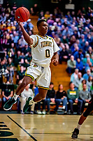 16 December 2018: University of Vermont Catamount Guard Stef Smith, a Sophomore from Ajax, Ontario, in first half action against the Northeastern University Huskies at Patrick Gymnasium in Burlington, Vermont. The Catamounts defeated the Huskies 75-70 in NCAA Division I America East play. Mandatory Credit: Ed Wolfstein Photo *** RAW (NEF) Image File Available ***