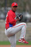 February 24, 2010:  Pitcher Antonio Bastardo (58) of the Philadelphia Phillies during practice at Carpenter Complex in Clearwater, FL.  Photo By Mike Janes/Four Seam Images
