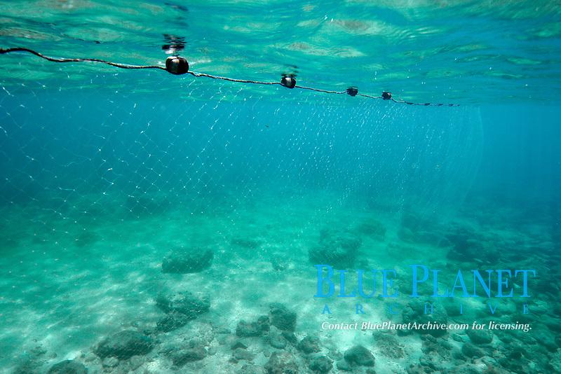 Drift net in shallow water, Negros Island, Philippines, Visayan Sea