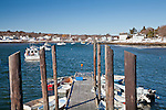 Winter view in Cape Porpoise, ME, USA