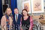 Art Exhibition : Pictured at the opening at the opening of the Mary Lavery Carrig Bird & Tree Ogham Haiga Exhibition at St. John's Arts Centre, Listowel on Saturday afternoon last were Eithne Griffin, Dr. Declan Downey, UCD History Dept. who opened the exhibition & artist Mary Lavery Carrig.