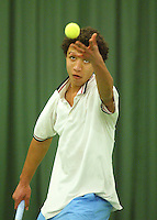 10-3-06, Netherlands, tennis, Rotterdam, National indoor junior tennis championchips, Marlon van Ingen