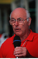 1992, South Africa; Commentator MURRAY WALKER, South African Grand Prix, Kyalami 1992.  Walker passed away at the age of 97 on 13th March 2021
