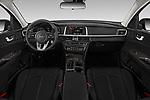 Stock photo of straight dashboard view of 2020 KIA Optima LX 4 Door Sedan Dashboard
