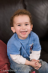 2 year old toddler boy at home portrait closeup vertical Caucasian