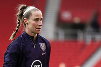 13th April 2021; Bet365 Stadium, Stoke, England; Karen Bardsley of England during the womens International Friendly match between England and Canada