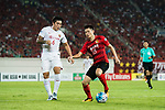 Guangzhou Forward Zhang Wenzhao (R) in action against Shanghai FC Midfielder Cai Huikang (L) during the AFC Champions League 2017 Quarter-Finals match between Guangzhou Evergrande (CHN) vs Shanghai SIPG (CHN) at the Tianhe Stadium on 12 September 2017 in Guangzhou, China. Photo by Marcio Rodrigo Machado / Power Sport Images