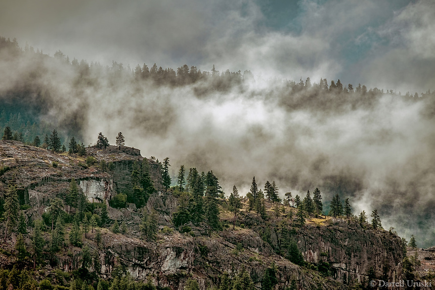 Photograph of Mountain Mist Clouds in the Okanagan Valley in British Columbia