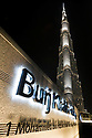 The Burj Khalifa, the world's tallest building at 829.8m at night. Dubai, United Arab Emirates.