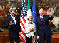 20131023 ROMA-ESTERI: JOHN KERRY A PALAZZO CHIGI