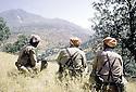 Irak 1985.Dans les zones libérées, région de Lolan, peshmergas a la frontière turque.Iraq 1985.In liberated areas, Lolan district, peshmergas on the Turqish border