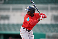 Boston Red Sox designated hitter Gilberto Jimenez (64) at bat during a Florida Instructional League game against the Baltimore Orioles on September 21, 2018 at JetBlue Park in Fort Myers, Florida.  (Mike Janes/Four Seam Images)